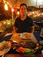 natuerlich probierten wir den Mekongfisch