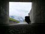 Pause im Rheintal geschuetzt vom Regen