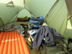 so siehts jeweils aus im Zelt :)