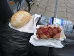 eine Currywurst zum Start in Deutschland :)