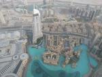 Aussicht vom der Burj Khalifa Aussichtsplattform